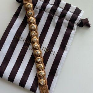 Henri Bandel leather bracelet